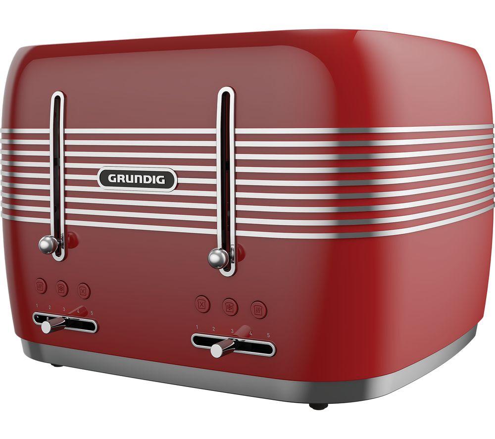 GRUNDIG TA7870R 4-Slice Toaster - Red
