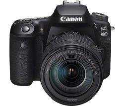 EOS 90D DSLR Camera with EF-S 18-135 mm f/3.5-5.6 IS USM Lens