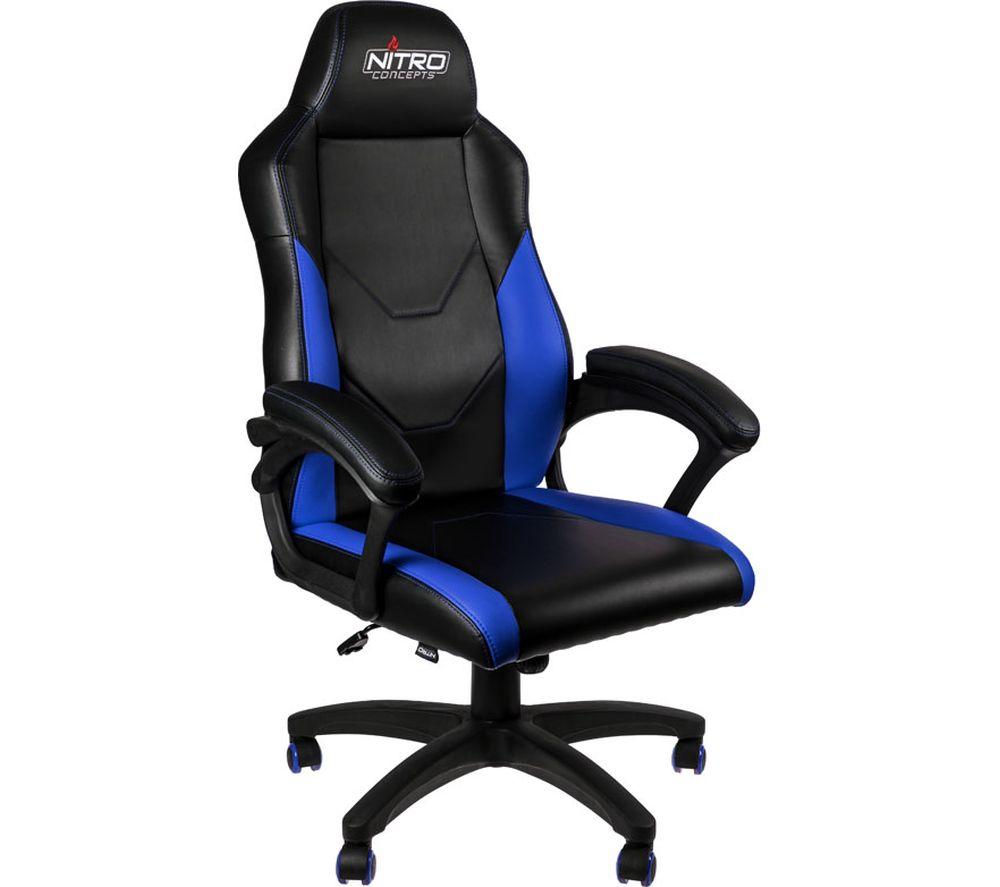 Image of C100 Gaming Chair - Black & Blue, Black