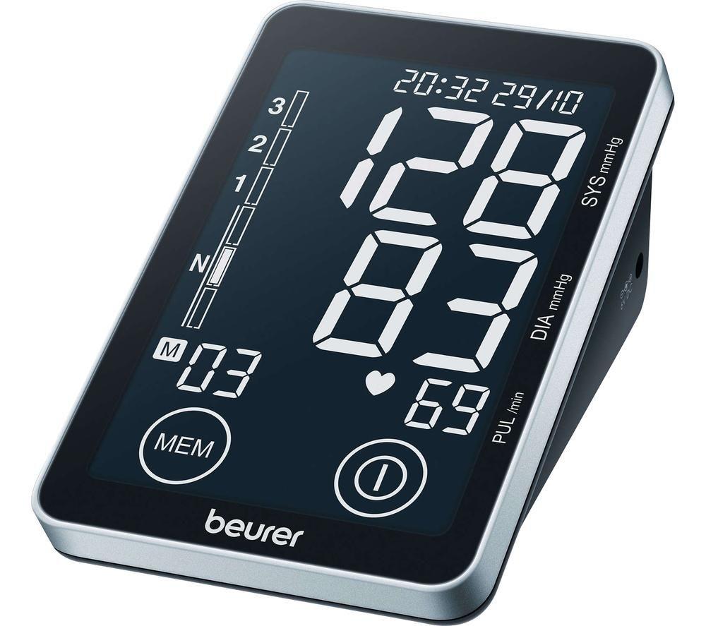 Image of BEURER BM 58 Blood Pressure Monitor - Black & Grey, Black