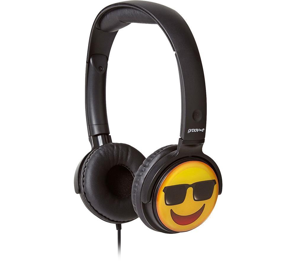 Image of GV-EMJ15 EarMOJI's Cool Face Kids Headphones - Black, Black