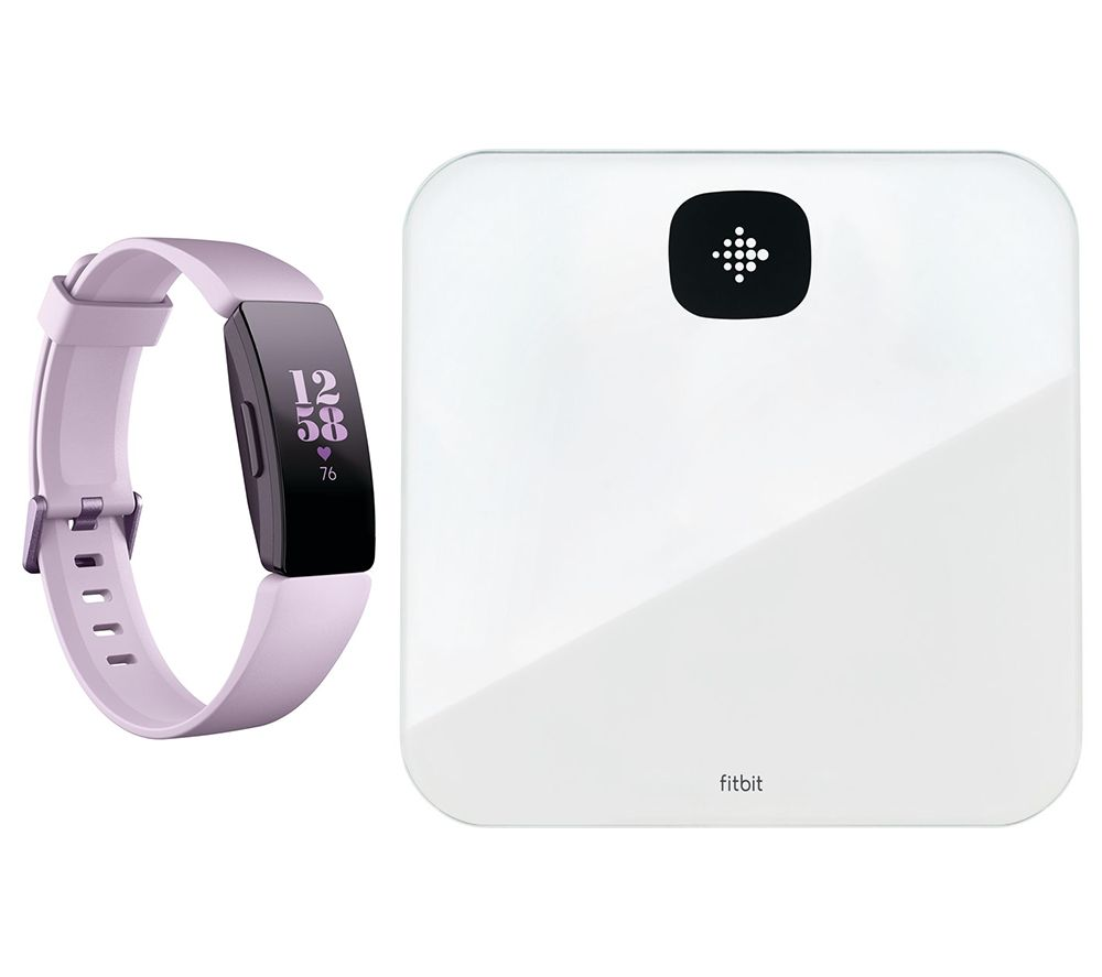 FITBIT Inspire HR Fitness Tracker & Aria Air Smart Scale Bundle - Lilac