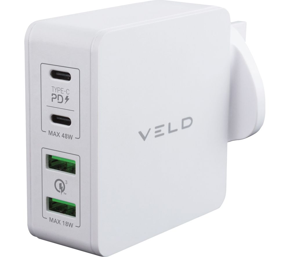 Image of VELD Super-Fast 4-port USB Wall Charger