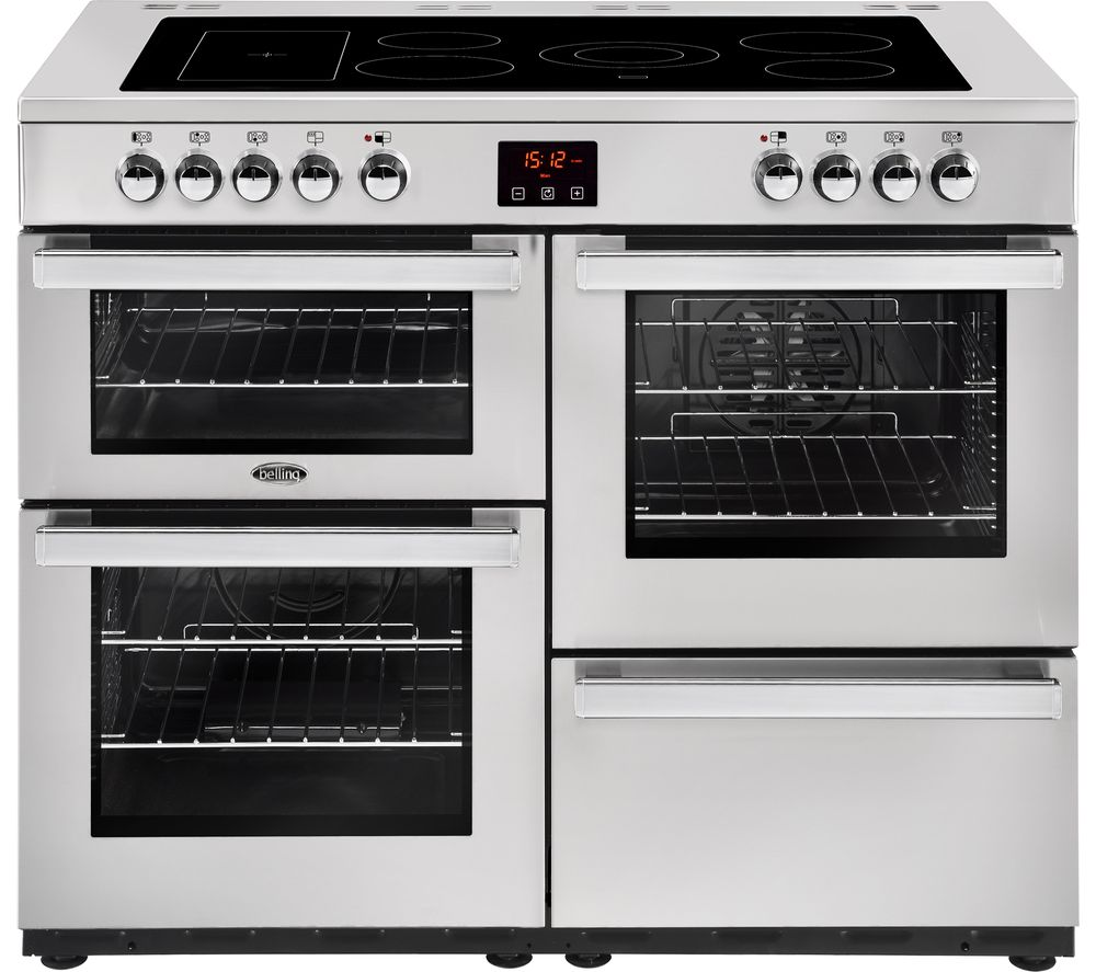 BELLING Cookcentre 110E Electric Ceramic Range Cooker - Stainless Steel