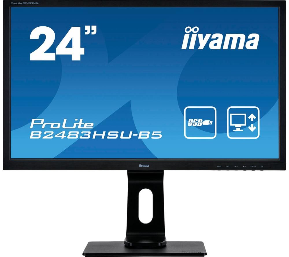 "IIYAMA ProLite B2483HSU-B5 Full HD 24"" LCD Monitor - Black"
