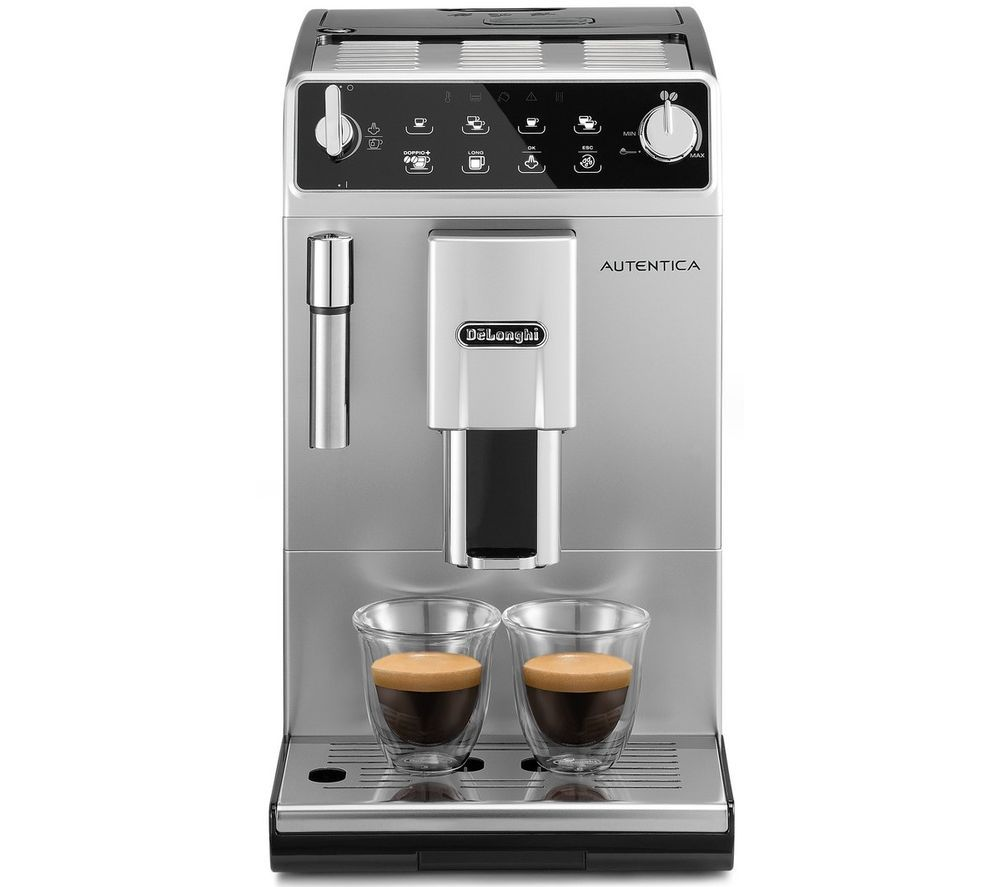 DELONGHI Autentica ETAM 29.510.SB Bean to Cup Coffee Machine - Silver & Black, Silver