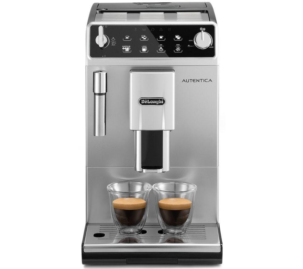 Image of DELONGHI Autentica ETAM 29.510.SB Bean to Cup Coffee Machine - Silver & Black, Silver