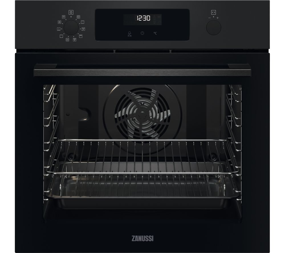 ZANUSSI SelfClean ZOPNX6K2 Electric Oven - Black, Black