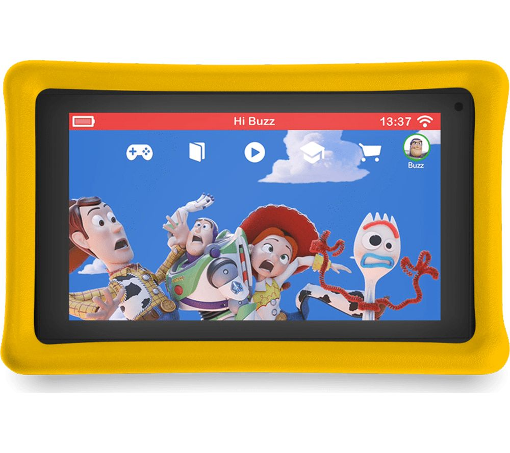 """Image of PEBBLE GEAR Toy Story 4 7"""" Kids Tablet - 16 GB, Blue"""