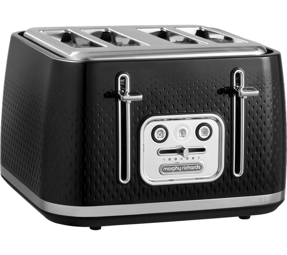 MORPHY RICHARDS Verve 243010 4-Slice Toaster - Black