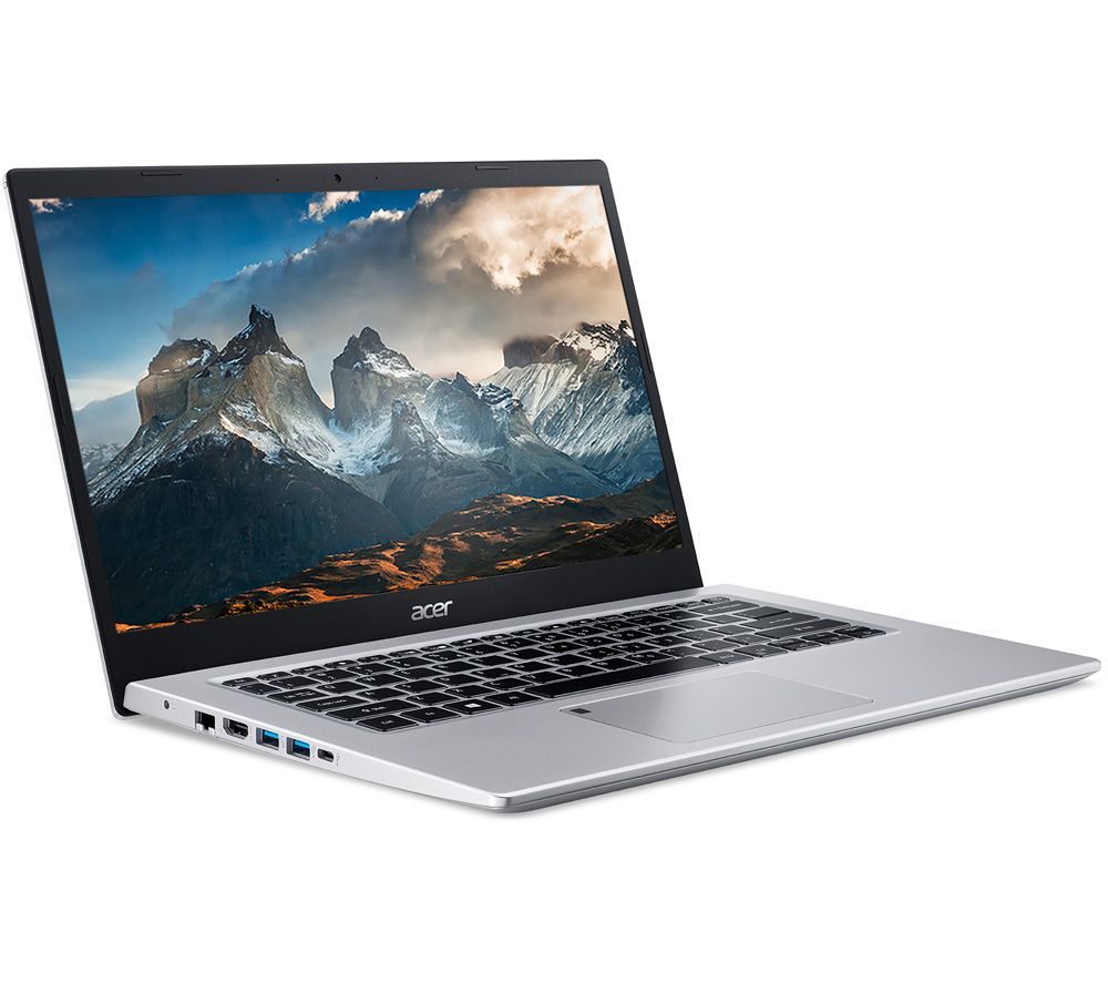 """Image of ACER Aspire 5 A514-54 14"""" Laptop - Intel®Core™ i3, 128 GB SSD, Silver, Silver"""