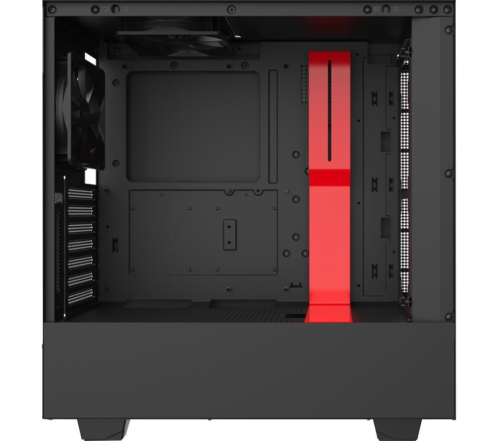 Image of NZXT H510i ATX Mid-Tower PC Case - Black & Red, Black