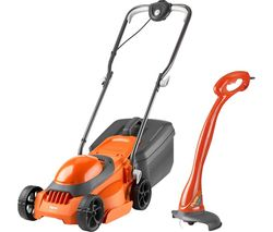EasiMow 300R Corded Rotary Lawn Mower & Grass Trimmer Pack - Orange