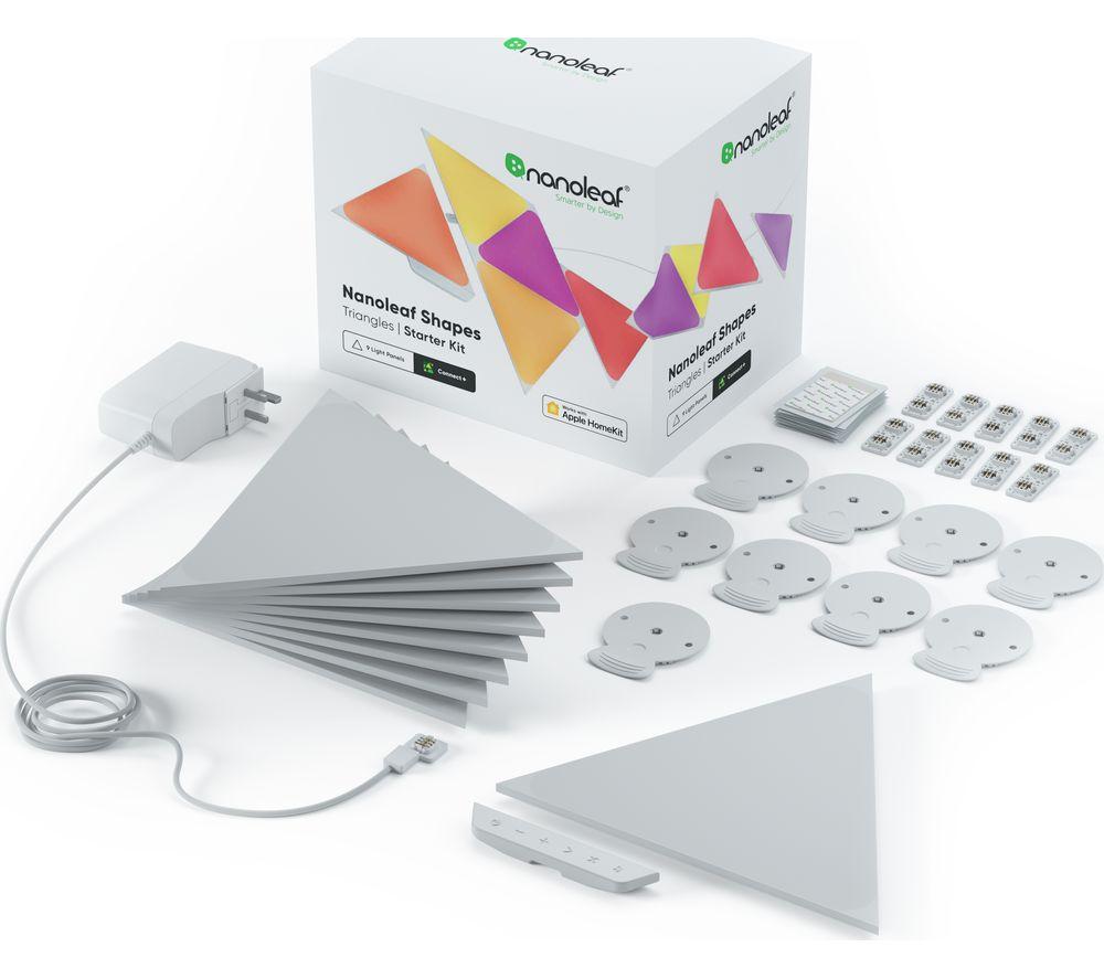 NANOLEAF Shapes Triangle Smart Lights Starter Kit - Pack of 9