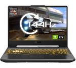 £1399, ASUS TUF Dash A15 15.6inch Gaming Laptop - AMD Ryzen 7, RTX 3070, 512 GB SSD, AMD Ryzen 7 5800H Processor, RAM: 16GB / Storage: 512GB SSD, Graphics: NVIDIA GeForce RTX 3070 8GB, 247 FPS when playing Fortnite at 1080p, Full HD screen / 144 Hz,