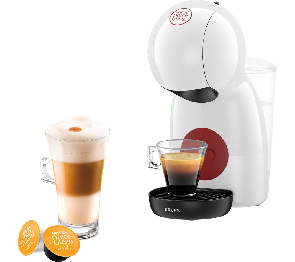DOLCE GUSTO by KRUPS Piccolo XS KP1A0140 Coffee Machine - White, White