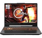 £679, ASUS TUF Dash F15 15.6inch Gaming Laptop - Intel® Core™ i5, GTX 1650, 512 GB SSD, Intel® Core™ i5-10300H Processor, RAM: 8GB / Storage: 512GB SSD, Graphics: NVIDIA GeForce GTX 1650 4GB, 149 FPS when playing Fortnite at 1080p, Full HD screen / 144 Hz,