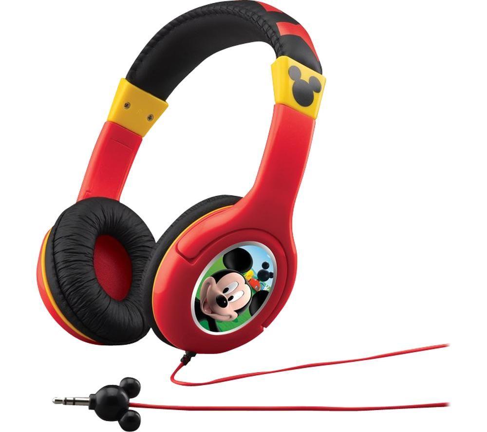 EKIDS Mickey Mouse MK-140 Kids Headphones - Red & Yellow