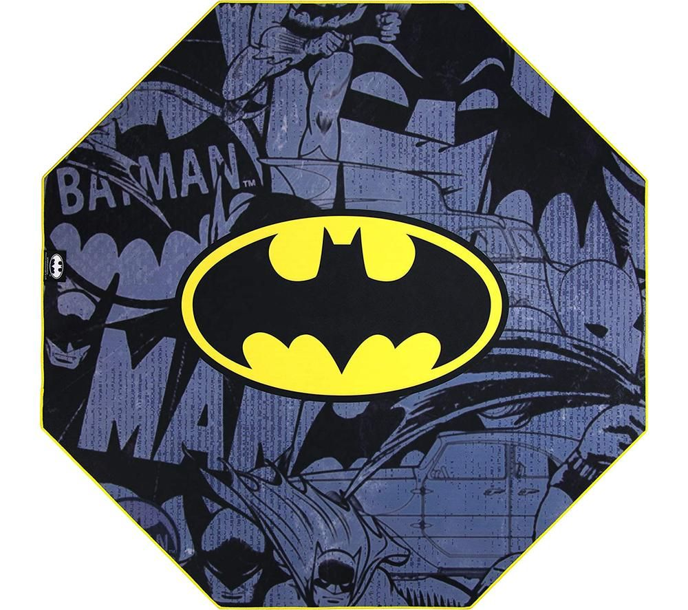 SUBSONIC DC Comics Batman Gaming Chair Mat - Grey & Yellow, Grey