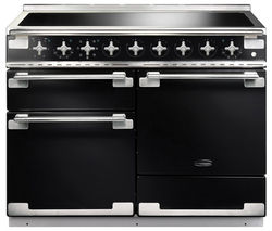 RANGEMASTER Elise 110 Electric Induction Range Cooker - Black & Chrome