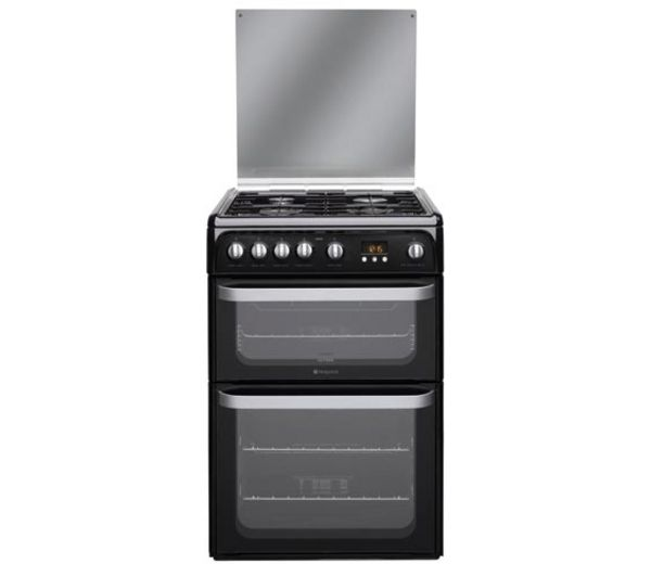 HOTPOINT HUG61K Gas Cooker - Black