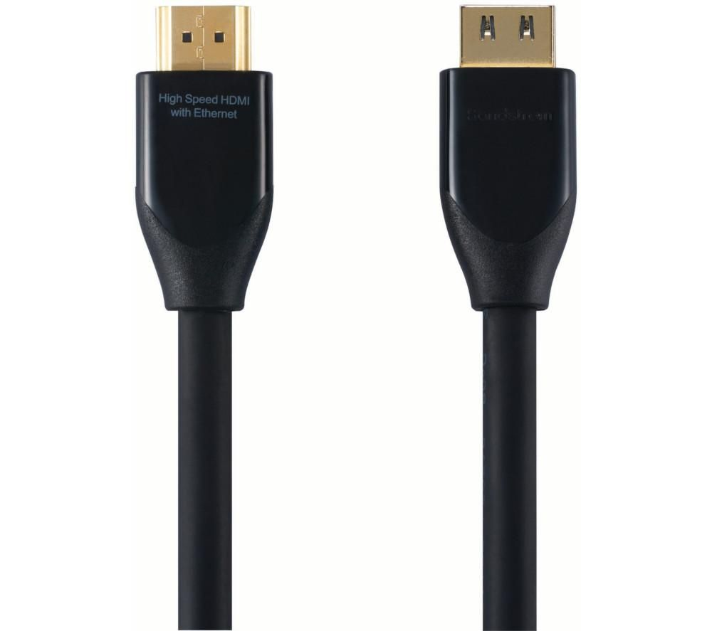 SANDSTROM Black Series S1HDM115 High Speed HDMI Cable with Ethernet - 1 m