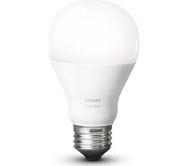 buy philips hue white smart bulb starter kit e27 free. Black Bedroom Furniture Sets. Home Design Ideas