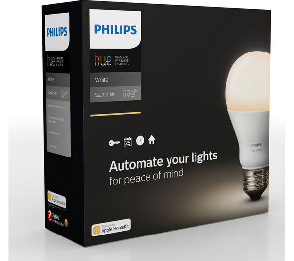 Buy PHILIPS Hue White Smart Bulb Starter Kit - E27 | Free Delivery | Currys