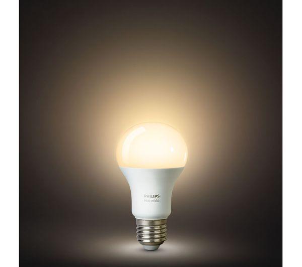 PHILIPS Hue White Smart Bulb Starter Kit - E27