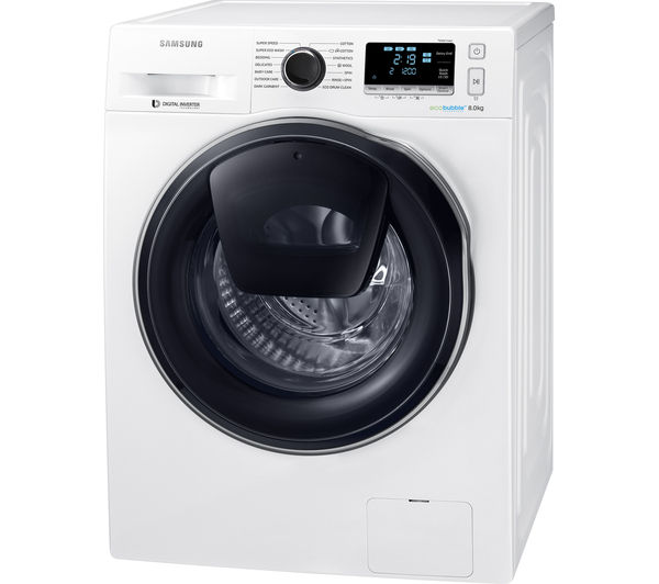 buy samsung addwash ww80k6414qw washing machine white free delivery currys. Black Bedroom Furniture Sets. Home Design Ideas