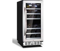 HUSKY HUS-ZY4-D-SS-26 Wine Cooler - Black & Silver
