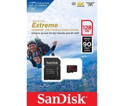 SANDISK Extreme Class 10 microSDXC Memory Card - 128 GB
