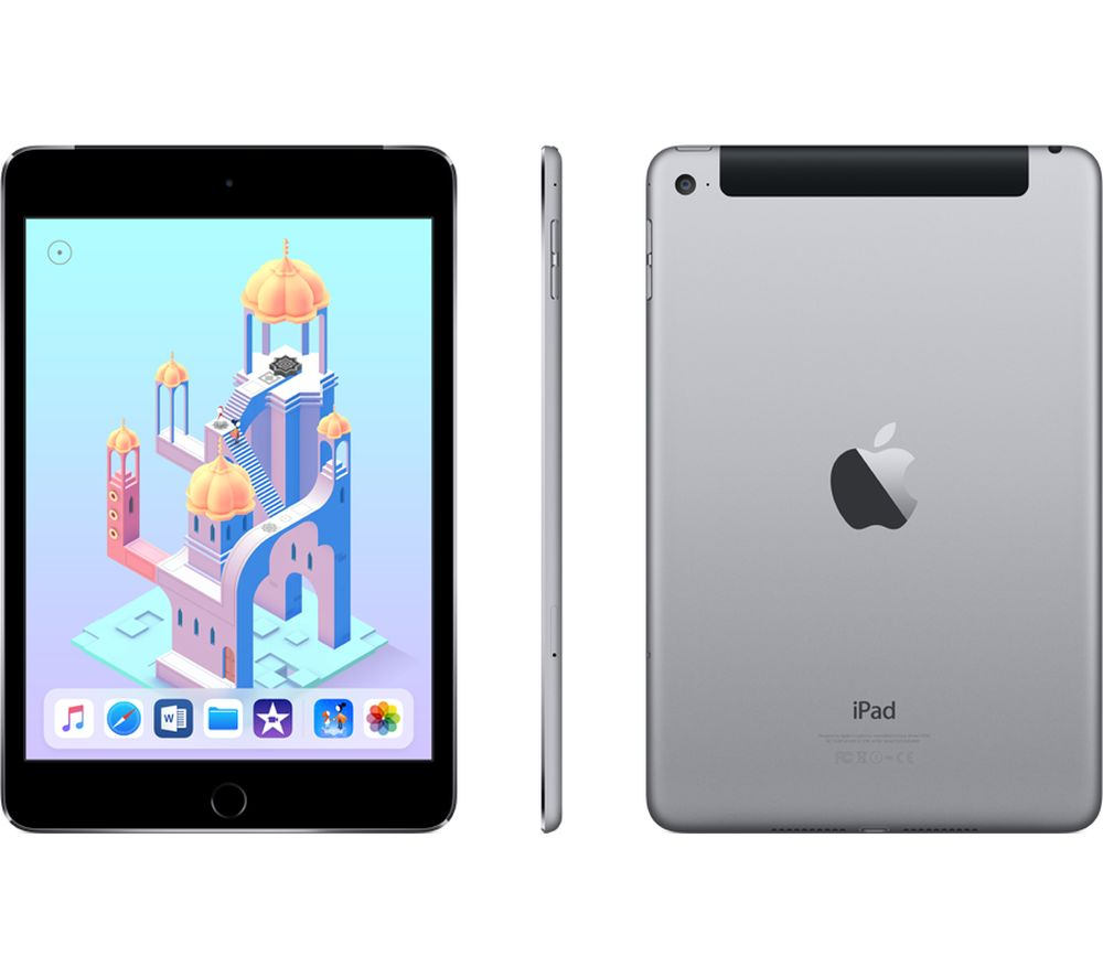 apple ipad mini 4 cellular 128 gb space grey deals pc. Black Bedroom Furniture Sets. Home Design Ideas