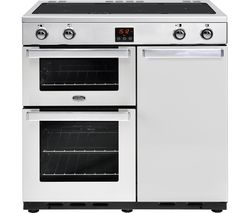 BELLING Gourmet 90Ei Professional Electric Induction Range Cooker - Stainless Steel Best Price, Cheapest Prices