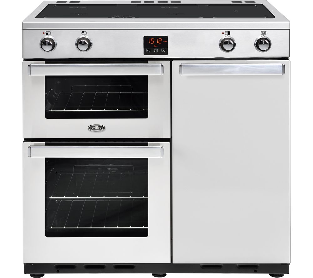 BELLING Gourmet 90Ei Professional Electric Induction Range Cooker - Stainless Steel
