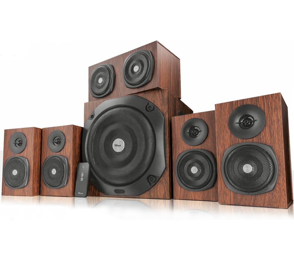 TRUST 21787 Vigor 5.1 PC Speakers - Brown