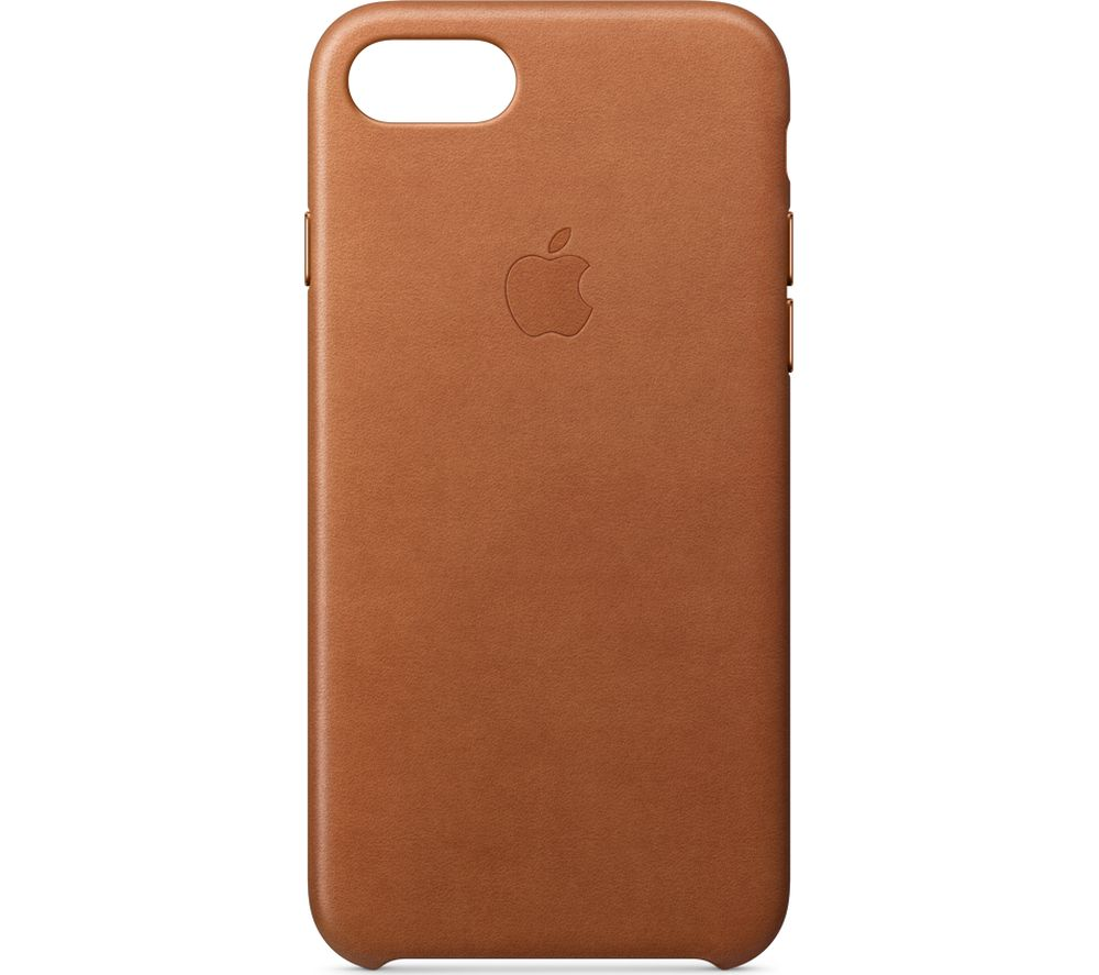 APPLE iPhone 8 & 7 Leather Case - Saddle Brown, Brown cheapest retail price