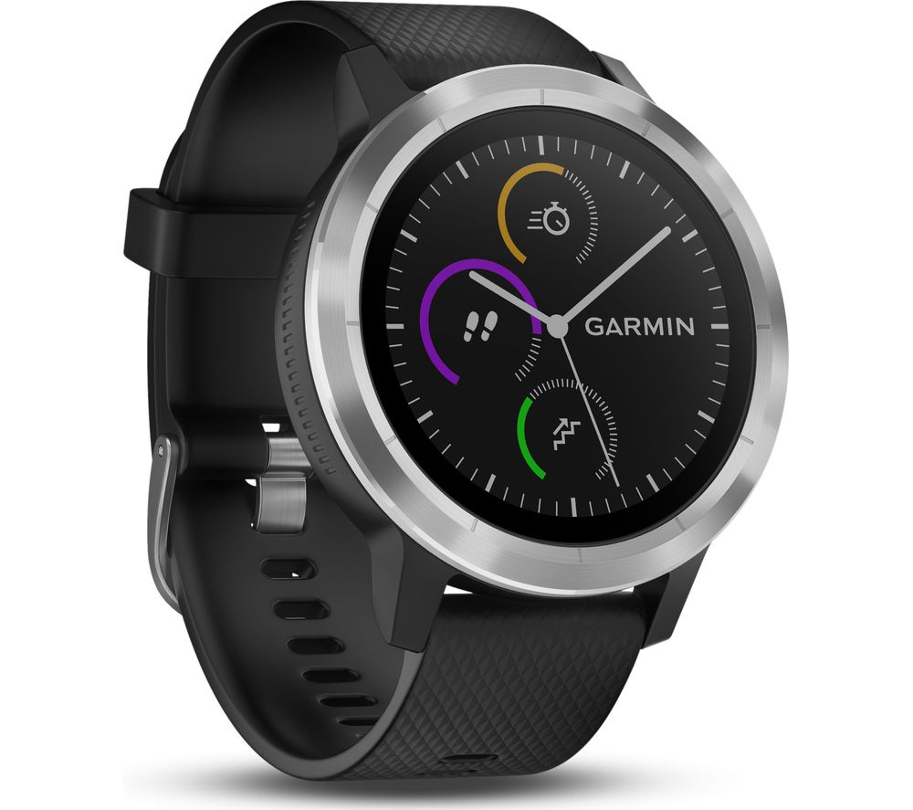Buy garmin vivoactive 3 black stainless steel free delivery currys for Watches garmin