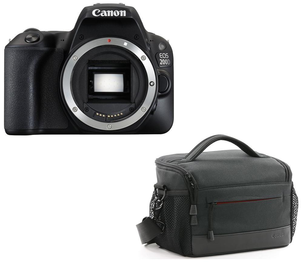 Image of CANON EOS 200D DSLR Camera & Bag Bundle, Black