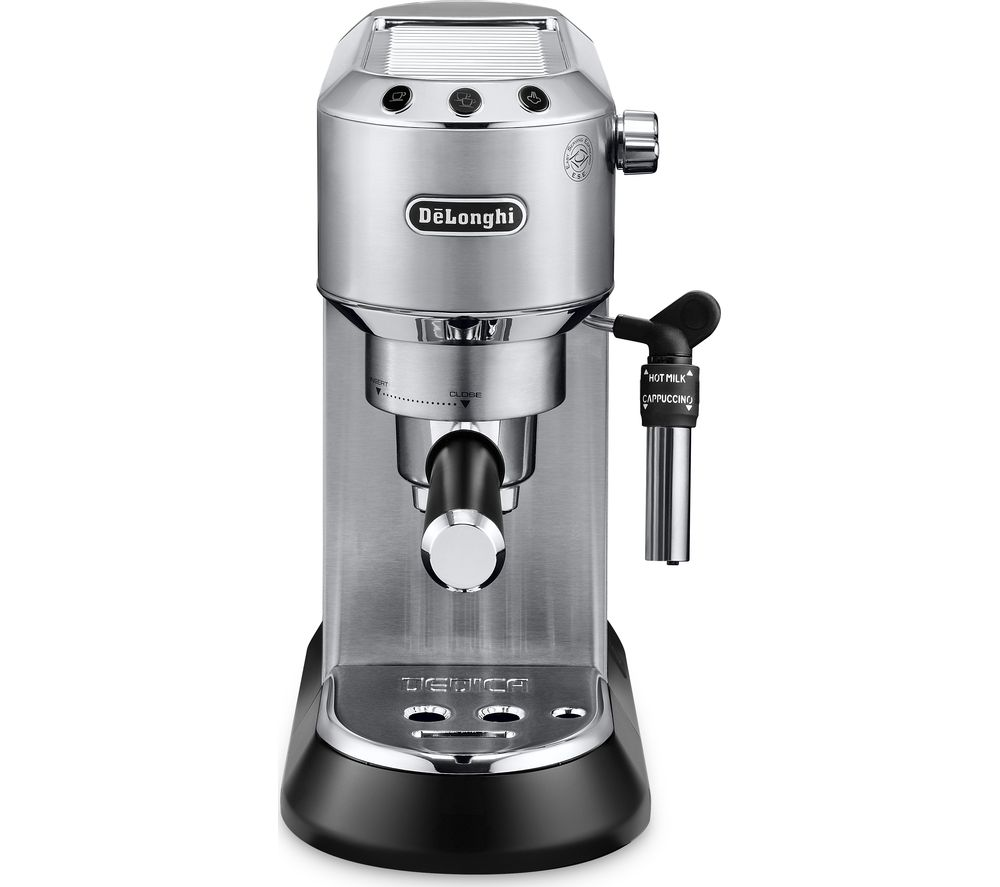 buy delonghi dedica ec685m coffee machine silver free delivery currys. Black Bedroom Furniture Sets. Home Design Ideas