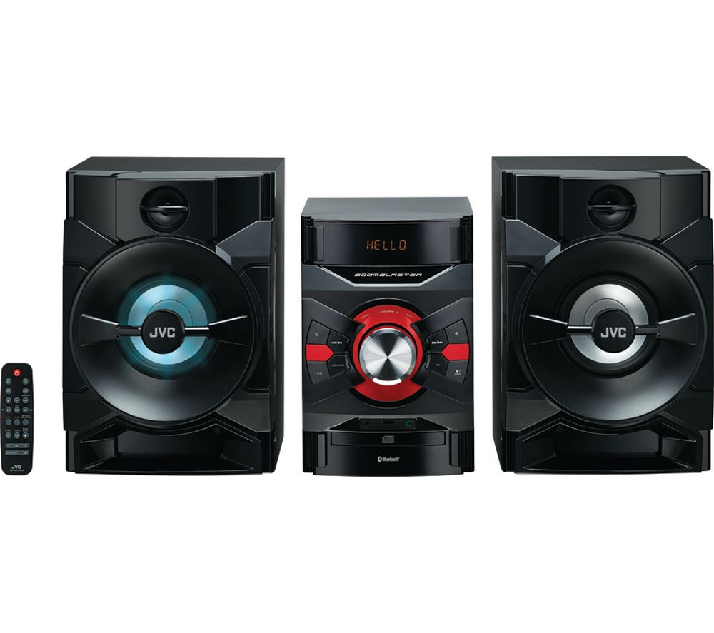 JVC MX-D328B Bluetooth Megasound Party Hi-Fi System - Black