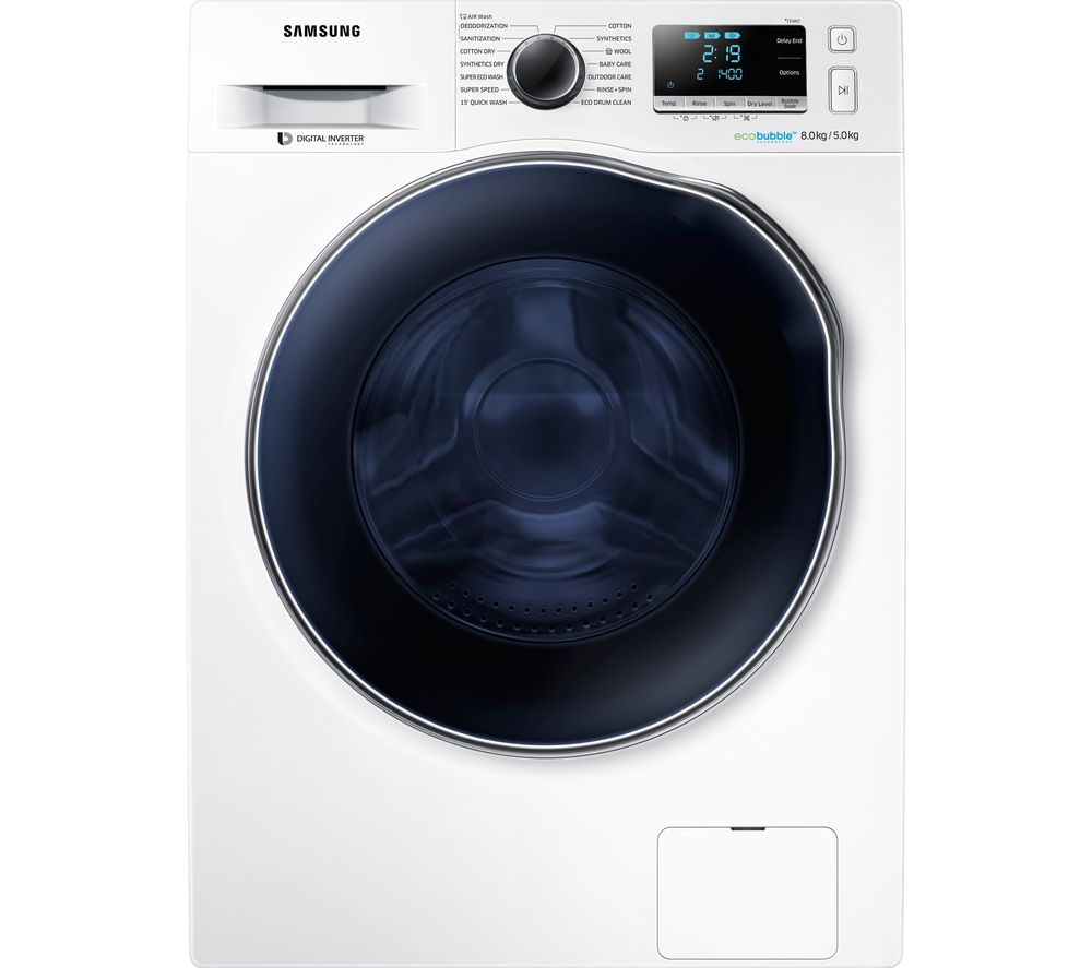 SAMSUNG ecobubble WD80J6A10AW 8 kg Washer Dryer - White