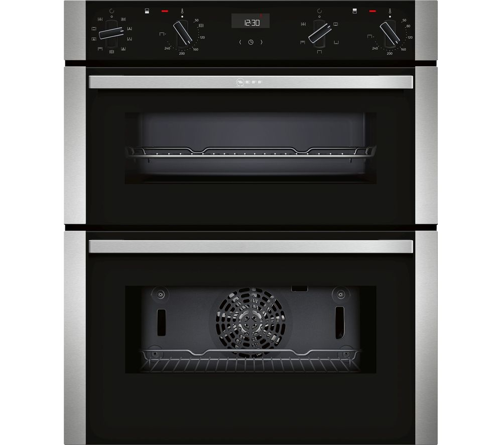 NEFF N50 J1ACE2HN0B Electric Built-under Double Oven - Stainless Steel
