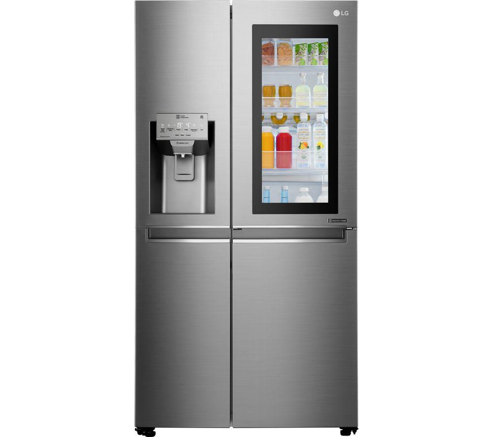 LG Instaview GSX960NSAZ Smart Fridge Freezer - Platinum Steel
