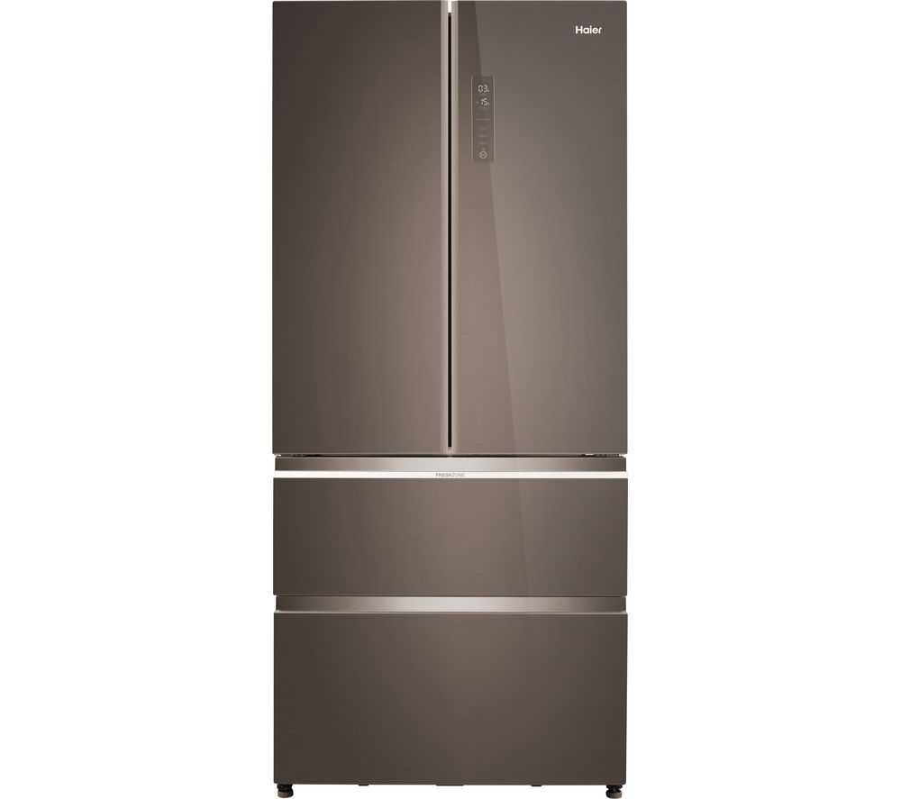 HAIER Multi-Door HB18FGSAAA Fridge Freezer - Iconic Glass