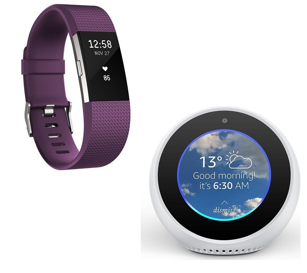 Buy Fitbit Charge 2 Plum Large Amazon Echo Spot Bundle Free Alta Size