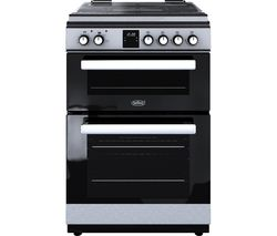 BELLING FSDF608Dc 60 cm Dual Fuel Cooker - Stainless Steel & Black