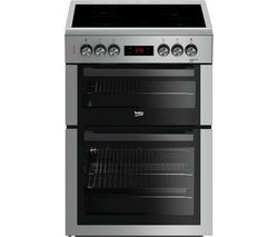 BEKO XTC653S 60 cm Electric Ceramic Cooker - Silver Best Price, Cheapest Prices