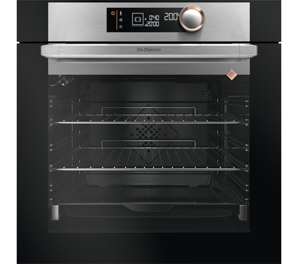 Image of DE DIETRICH DOP7340X Electric Oven - Black & Stainless Steel, Stainless Steel
