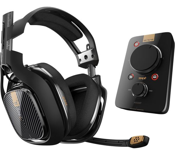 Image of ASTRO A40TR Gaming Headset & MixAmp Pro TR Headset Amplifier - Black